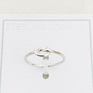 NWT | Sterling Forever Love Knot Ring 925 Size 6